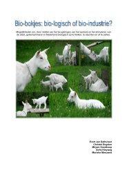 Bio-bokjes bio-logisch of bio-industrie #eindrapport - Boerengroep