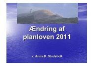 Ændring af planloven2 - Radikale Venstre