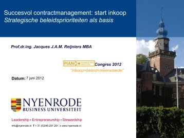 Contractmanagement - Pianoo