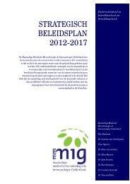 STRATEGISCH BELEIDSPLAN 2012-2017 - Mmmig.nl