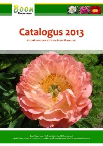 Catalogus 2013 - Boon Pioenrozen