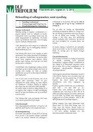 Behandling af udlægsmarker, samt nyudlæg - DLF-TRIFOLIUM ...