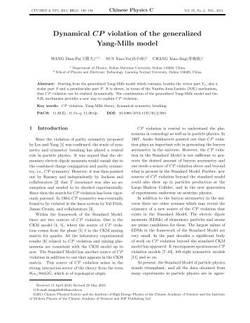 Dynamical CP violation of the generalized Yang-Mills model
