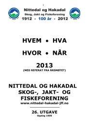 HHHN 2013.pdf - Nittedal og Hakadal Skog, Jakt og Fiskeforening
