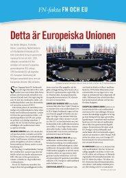 Detta är Europeiska Unionen - Svenska FN-förbundet