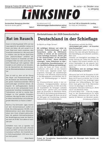 Deutschland in der Schieflage - DIE LINKE. Kreisverband Essen