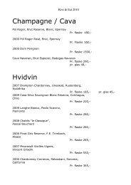 Champagne / Cava Hvidvin - Roskilde Festival