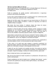 150 anos da Polícia Militar do Paraná - Rafael Greca
