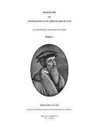 Calvijn Institutie Boek II - Gekrookte Riet