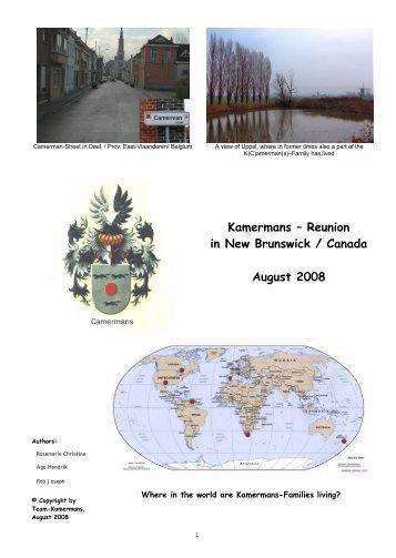 Miramichi 2008 - K(C)amerman(s)-Homepage