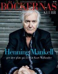 ger åter plats på scen åt Kurt Wallander - Böckernas Klubb