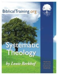 Systematic Theology, by Louis Berkhof - New Leaven