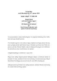 Mulige lovgennemgange til Juristen2009 - Arbejdsretten