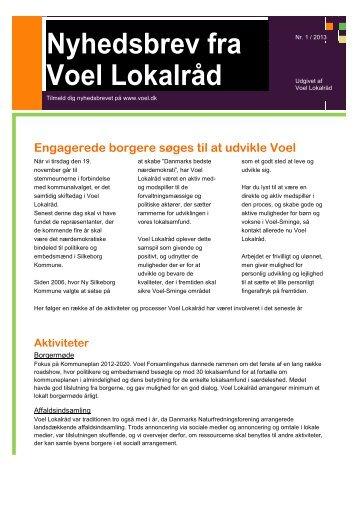Nyhedsbrev fra Voel Lokalråd - Voel.dk
