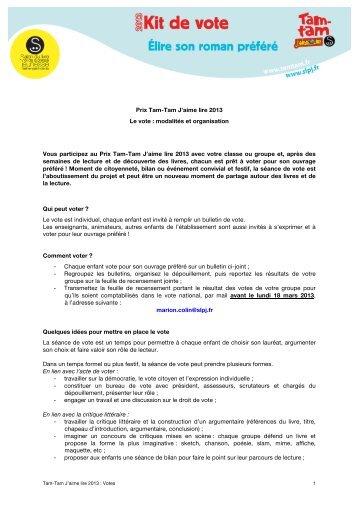 Kit de vote - Salon du livre et de la presse jeunesse