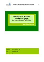 Euthanasie en Medische Handelingen bij het Levenseinde van ...