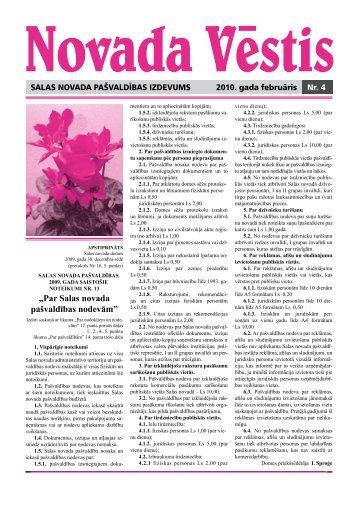 Novada vēstis Nr.4 - Salas Novads