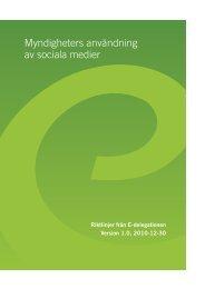 Myndigheters användning av sociala medier - E-delegationen