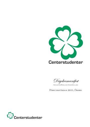 Dryckesmanifest - Centerstudenter