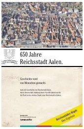 650 Jahre Freie Reichsstadt Aalen - Schwäbische Post