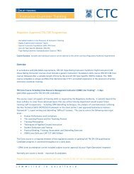 Instructor/Examiner Training - CTC Aviation