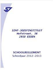 Schoolreglement 2012-2013 - Sint-Jozefinstituut Essen