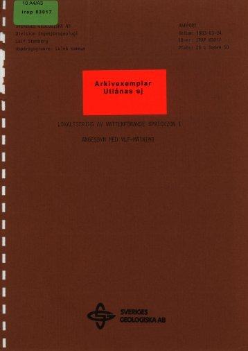 10 A4/A3 - Sveriges geologiska undersökning
