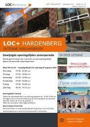 Nieuwsbrief 4 juli - LOC+ Hardenberg