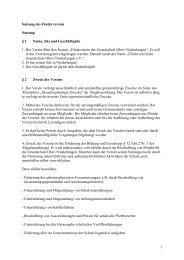 1 Satzung des Fördervereins Satzung § 1 Name, Sitz ... - Oberlangen