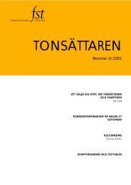 Tonsättaren Nr 3 2001 - FST