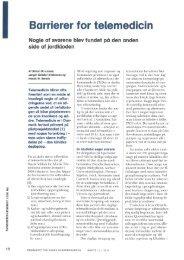 Barrierer for telemedicin - Midtlab