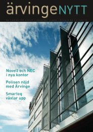 Läs senaste Ärvingenytt (pdf) - Atrium Ljungberg