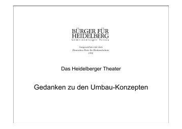 Gedanken zu den Umbau-Konzepten - Stadtpolitik Heidelberg