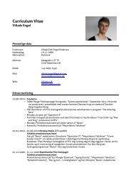 Curriculum Vitae - TVMKanal : TV- & Medietilrettelæggelse