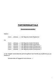 PARTNERINGAFTALE - Foreningen af Rådgivende Ingeniører F.R.I.