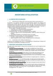Formulier - inventaris van bouwafval - Leefmilieu Brussel