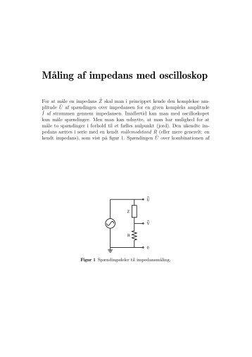 Måling af impedans med oscilloskop - dirac