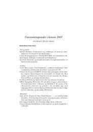 Universitetsspecialer i historie 2007 - Historisk Tidsskrift