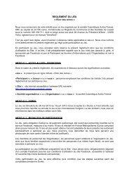 Article 1 : Société organisatrice - KRDS