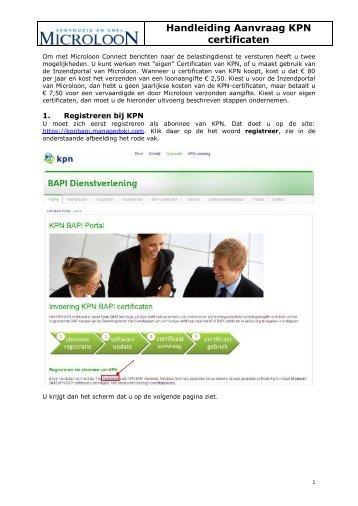 Handleiding Aanvraag KPN certificaten - Microloon