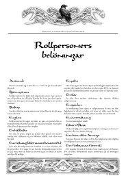 Rollpersoners belöningar - Riotminds