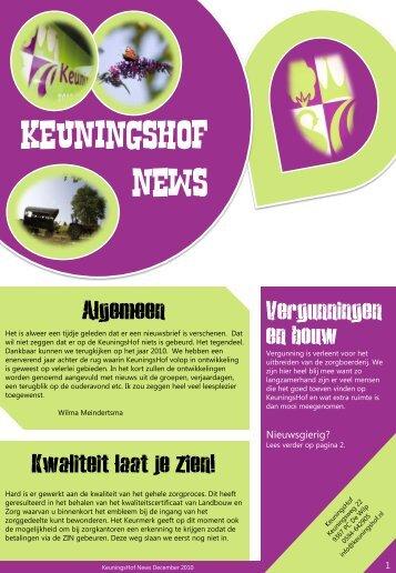 Nieuwsbrief - Keuningshof