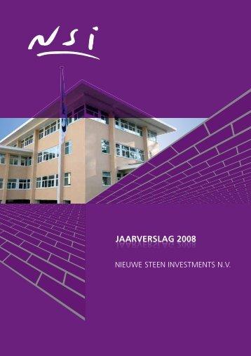 Nieuwe Steen Investment jaarverslag 2008 - Beursgorilla