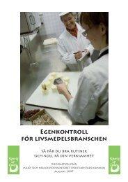 Egenkontroll för livsmedelsbranschen - Kristianstad