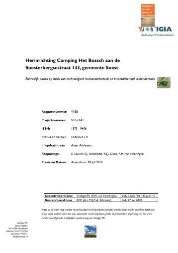 Herinrichting Camping Het Bossch aan de ... - Gemeente Soest