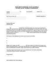 Modelbrief herziening huurprijs normale huurwaarde - Groep Arco