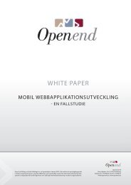 White Paper - Mobil Webbapplikationsutveckling - Open End AB