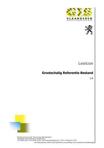 Lexicon - Agentschap voor Geografische Informatie Vlaanderen