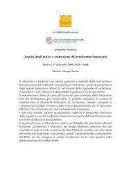 Analisi degli indici e costruzione del rendiconto finanziario - Cesi ...
