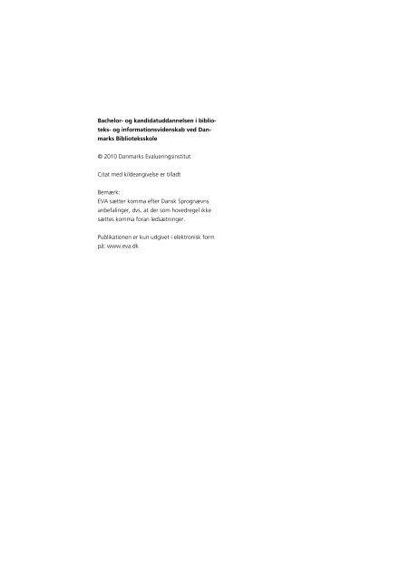 Bachelor- og kandidatuddannelsen i biblioteks- og informati ...